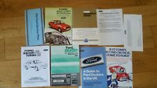 Ford escort rs turbo series 1 NOS  service book and all manuals very rare