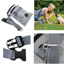 Pet Dog Puppy Training Treat Obedience Feed Bait Snack Belt Pouch Bag Grey