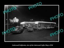 OLD POSTCARD SIZE PHOTO LAKEWOOD CALIFORNIA, LAKEWOOD COFFEE SHOP c1950