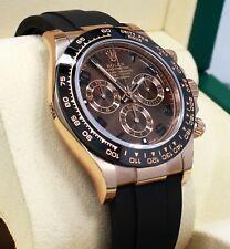 Rolex Daytona 116515LN 18K Rose Gold Cosmograph Chocolate Oysterflex B/PAPER NEW