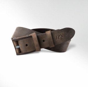 Mens Leather Belt Brown Distressed Leather Classic