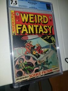Weird Fantasy #14 CGC 7.5 Super Bright Colors  WHITE PAGES! Free Shipping