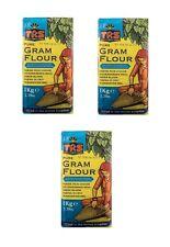 Offre : 3 X 1kg Farine de Pois Chiche trs Gram Pure