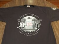 Twins Vs. Braves 2004 Hall Of Fame Game XL Gray T Shirt MLB Majestic Cooperstown