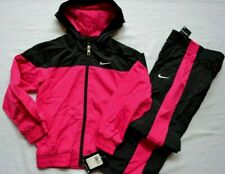 NIKE NWT GIRLS 2PC  WINDBREAKER JACKET AND PANTS WITH MESH INSIDE sizes: 6