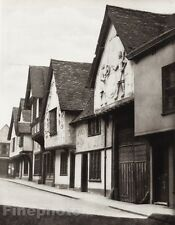 1926 Vintage UK England SAFFRON WALDEN Essex Market Town Photo Art By E.O. HOPPE