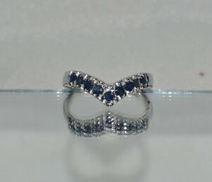 GLAMOROUS 1.00 ct.  NATURAL GENUINE SAPPHIRE IN PLATINUM OVER STERLING  SILVER