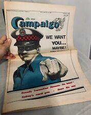 The New Campaign LGBT homosexual vintage newspaper, 1980, Australian, Sydney