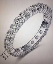 Eternity Ring Silver Color Single Row Womens Size 10