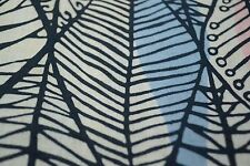 Japanese Cotton Fabric Blue, White, and Pink Leaf Design 1292