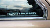 Pegatina sticker BMW Respect your elders respeta a tus mayores clásicos 30 cm