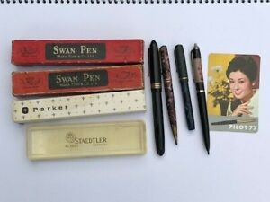 Swan, Parker, Staedtler, Pilot, Onoto, Conway - mixed collection