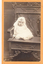 Real Photo Postcard Rppc - Red Cross Baby Huested Studio Mannsville Ny