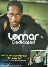"Lemar Obika ""Dedicated"" Thailand Promo Poster - Soul, R & B Music, Fame Academy"