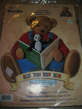 Bucilla Plaid KIt Blue Jean Teddy Bear Daisy Kingdom Felt Wall Hanging 2002 NIP