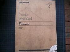 CAT Caterpillar 977 Traxcavator Parts Manual Book 20A