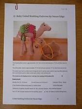 """Baby Camel Tejer patrón para 6.5"""" (16 CMS) Natividad Bebé camellos"""