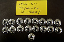 1966 1967 66 67 Plymouth Belvedere Satellite GTX Hood Letter Nuts *NOS*