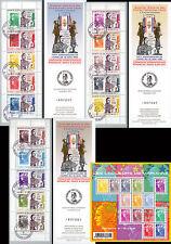 """Série 3 Carnets Porte-timbres """"70 ans Appel du 18 Juin DE GAULLE / WWII"""" 2010"""