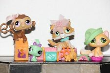Littlest Pet Shop COLLIE DOG TUBE 272 YELLOW WHITE TABBY CAT 273 MONKEY 274 LOT