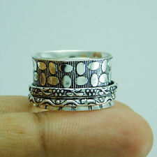 Ethnic Jewelry 925 Silver Plated Spinner Ring US Size 9 R-2101