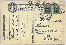 colonie Italiane - Storia Postale: ERITREA  Cartolina militare Italiana 1936