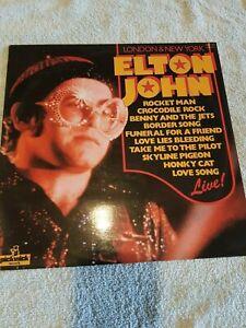 ELTON JOHN LONDON & NEW YORK RARE UK EARLY PRESS VINYL LP PICKWICK RECORDS 1976