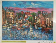 Hasbro Deluxe Puzzle 1500 Piece Artist Avi Thaw Painting Village Harbor Boats