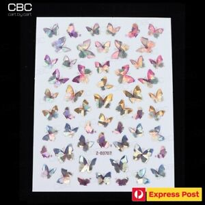 3D Holographic Butterfly Nail Art Decals Stickers Decoration Accessories Z-D3707