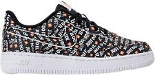 Nike AF1 Air Force 1 LV8 Kids Just Do It Black White Orange AT2976 001 Size 13.5