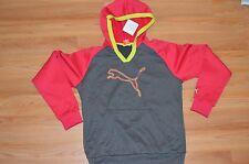Women's Puma Poly PO Colorblock Fleece Dark Gray/Virtual Pink Jacket Size M