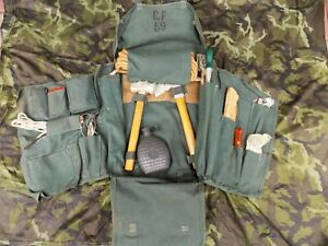 Genuine Danish Army Complete Sapper Pionner Set w/ Bag - Germany 1959 - Unused