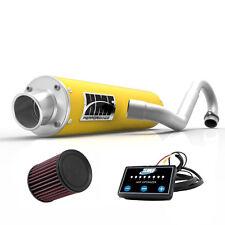 HMF Performance Full System Exhaust Yellow EFI Optimizer K&N CanAm Outlander 650