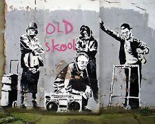 Banksy - Old Skool. Ed. 300 uds Firma impresa. Num. a lapiz. Certif. Edicion
