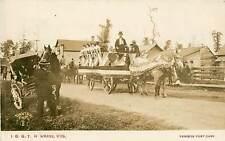 Wisconsin, WI, I. O. G. T. (Temperance) Parade 1909 Real Photo Postcard