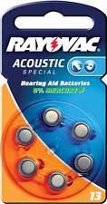 Rayovac Hearing Aid baterías 1.4 V 6 piezas 290 mAh (RAY-13B)