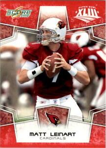 2008 Score Super Bowl XLIII Football Card Pick 1-250