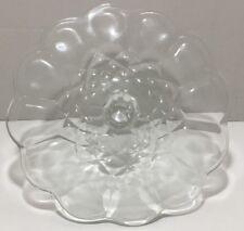 "Vintage 11-1/2"" Round Gyroscope Patterned Crystal Pedestal Cake Stand Plate"