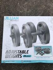 Adjustable Weights 20lb Set Dumbbells- 5lb Plates-10lb Each- BRAND NEW