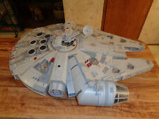 "2008 Hasbro Star Wars Legacy 31""x24"" Millennium Falcon Ship WORKS NICE!"