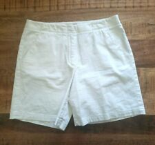 Tommy Bahama Mid Rise Stretch Shorts Womens Size 12 Ivory