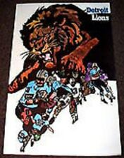 Vintage 1968 Detroit Lions NFL Original Team Poster Mint