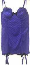 Victoria's Secret Purple Merry Widow Underwired Shapewear Suspenders 34C