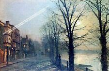 On The Thames, Barnes by John Atkinson Grimshaw Artwork by Selby Prints