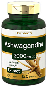Ashwagandha Capsules | 3000 mg | 120 Count | Maximum Strength | by Horbaach