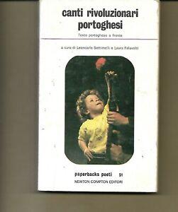 A.V. CANTI RIVOLUZIONARI PORTOGHESI EDITORI NEWTON 1977 CON TESTO PORTOGHESE