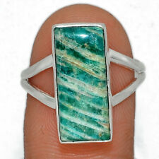 Russian Amazonite 925 Sterling Silver Ring Jewelry s. 8.5 AR164710