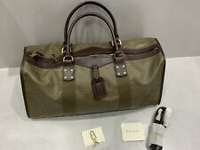New MULBERY Large Bag Or Holdall Cambridge-Khaki/Chocolate Brown Shoulder Strap