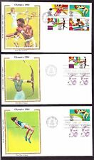 """US 2048-2051 13c Olympics 1984 First Day Covers Lot w/ Colorano """"Silk"""" Cachets"""