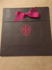 Large Tory Burch Paper Gift Shopping Bag w/ Bow - 12x10.5x5 - Brand New!